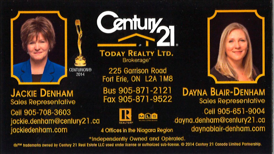 Century 21 - Today Realty Ltd Brokerage - Jackie Denham & Dayna Blair-Denham